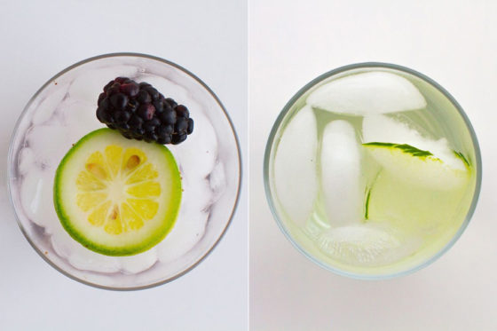 Flavored Water: Cucumber Lemongrass and Blackberry Ginger Recipes