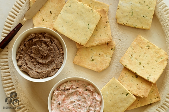 Sea Salted Rosemary Chive Crackers