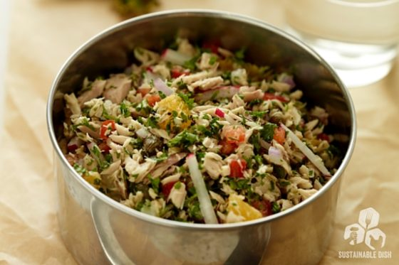 Wild Tuna, Orange and Parsley Salad: Paleo Lunches and Breakfasts on the Go