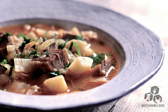 Brisket Soup with Fennel, Cabbage and Potatoes