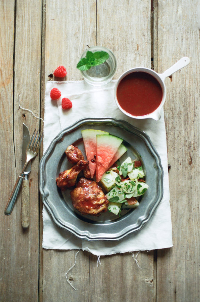 Grilled Chicken with Raspberry Chipotle Glaze | Sustainable Dish