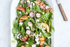 arugula-salad-grilled-peaches-mint-loveleaf-co