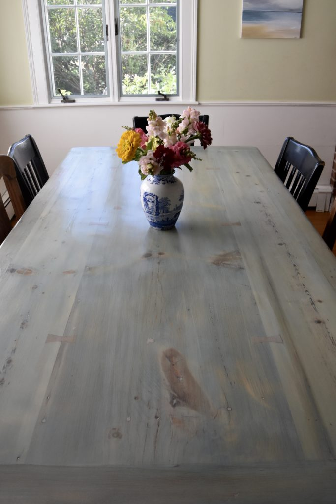 Refinishing Kitchen Table What the table looks like nowu2026