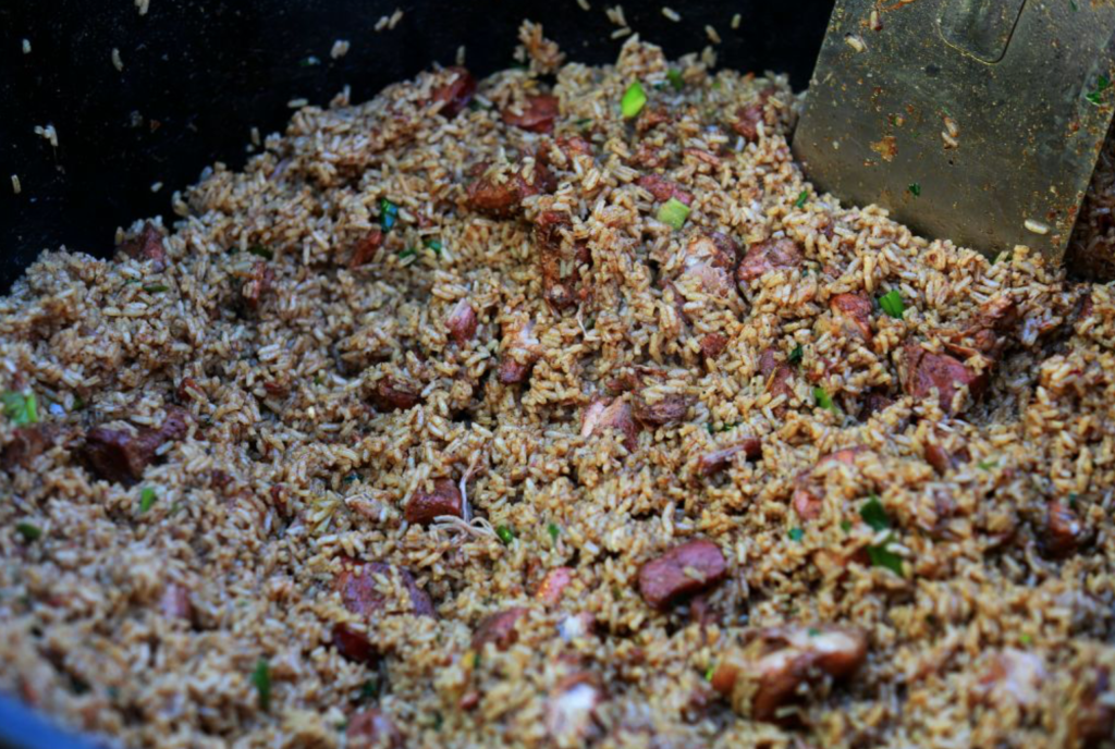 Jambalaya for about 100. PC: Glen Clark, Feldspar