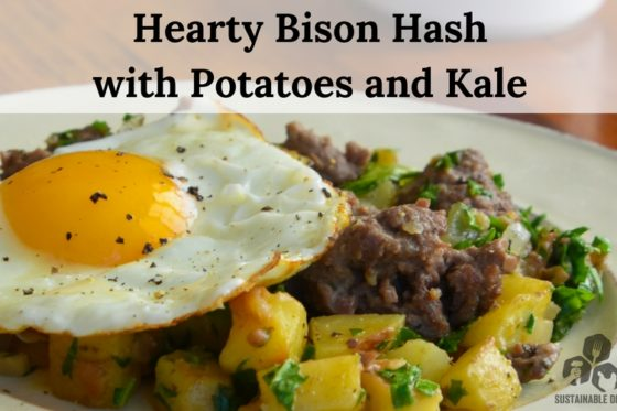 Hearty Bison Hash with Potatoes and Kale