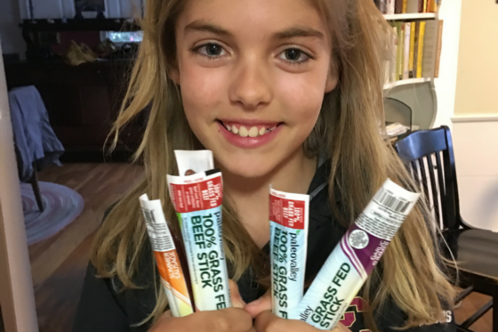 The Perfect Kid's Snack: 100% Grass-fed Beef Sticks!